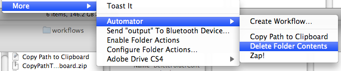 Automator Workflow As Finder Plugin